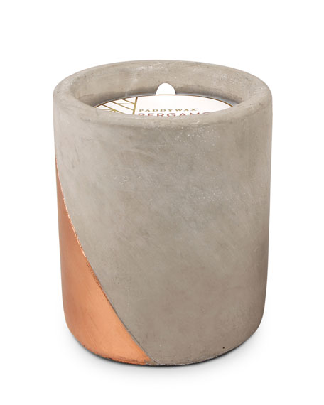 Paddywax Bergamot & Mahogany Large Concrete Candle, 12