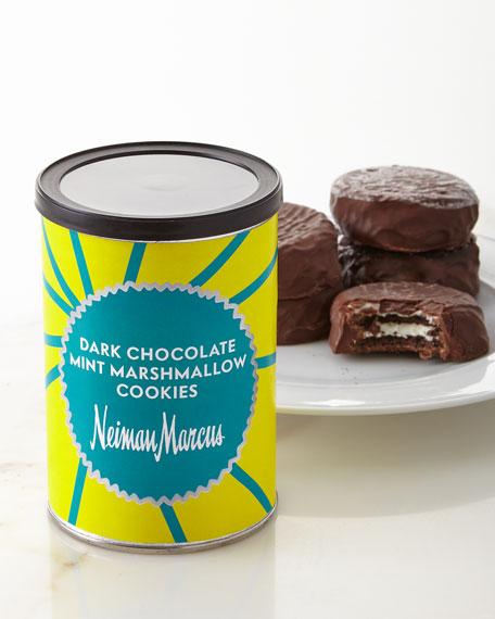 Dark Chocolate Mint Marshmallow Cookies