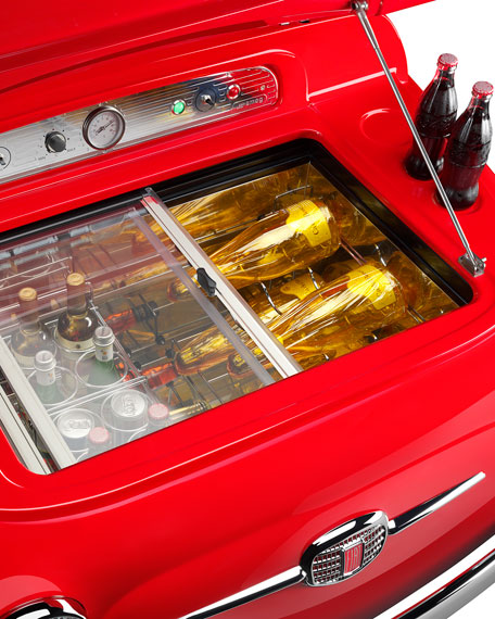 FIAT X SMEG Red Electric Cooler