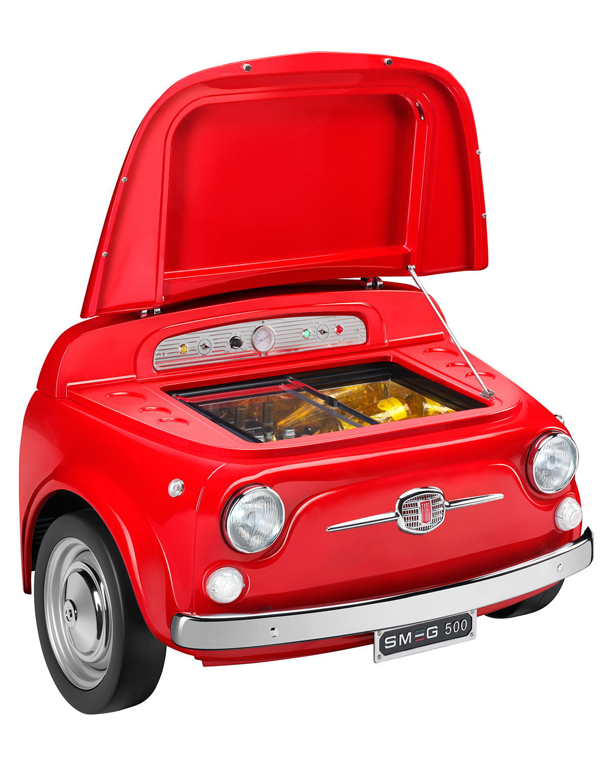 Smeg Fiat X Smeg Red Electric Cooler Neiman Marcus