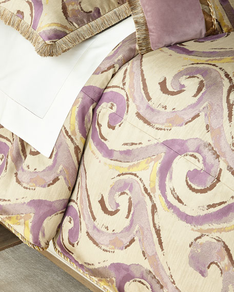 Dian Austin Couture Home Wisteria Scroll Queen Duvet