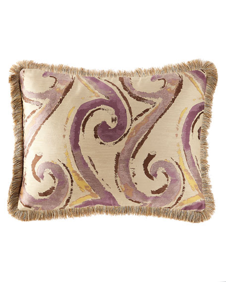 Wisteria Scroll King Sham with Fringe