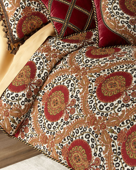 Dian Austin Couture Home Maximus Medallion Queen Duvet