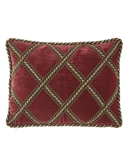 Maximus Velvet Pillow with Gimp