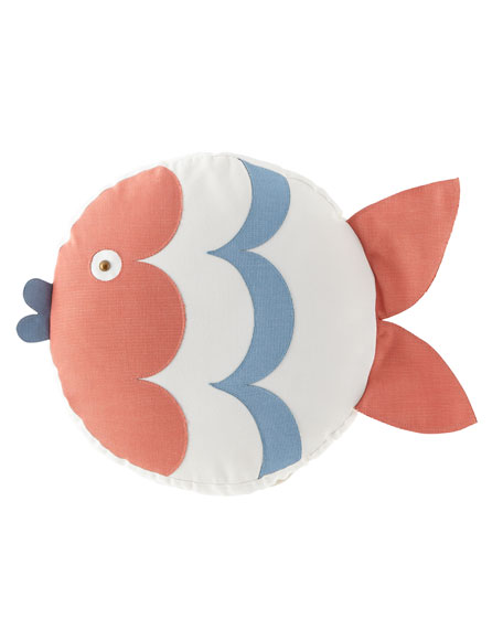 Celerie Kemble Kissing Fish Tambourine Left Pillow