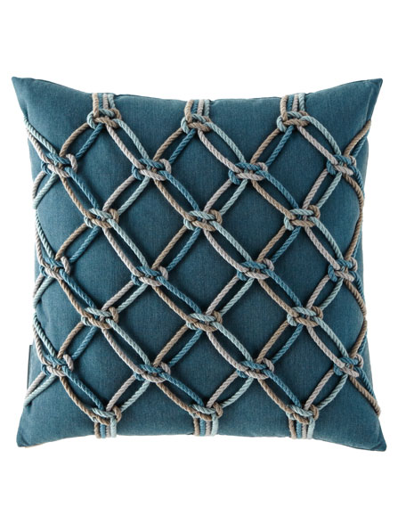 Elaine Smith Lagoon Rope Pillow, 20