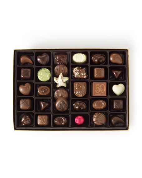 36-Piece Gold Chocolate Box