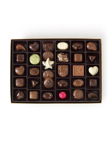 36-Piece Gold Chocolate Box