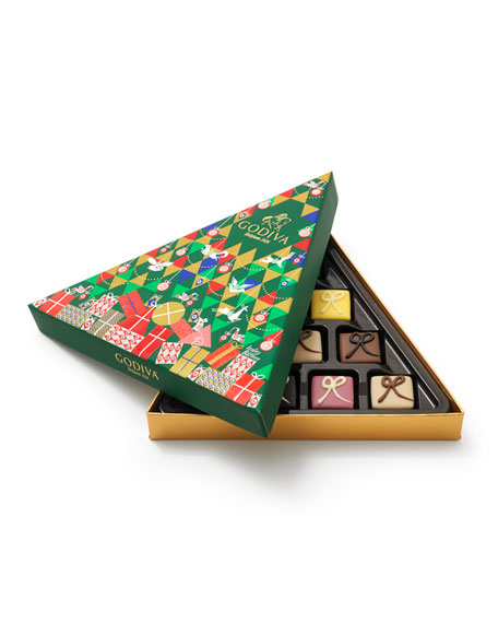 Godiva Chocolatier Petit Four 10-Piece Tree Gift Box