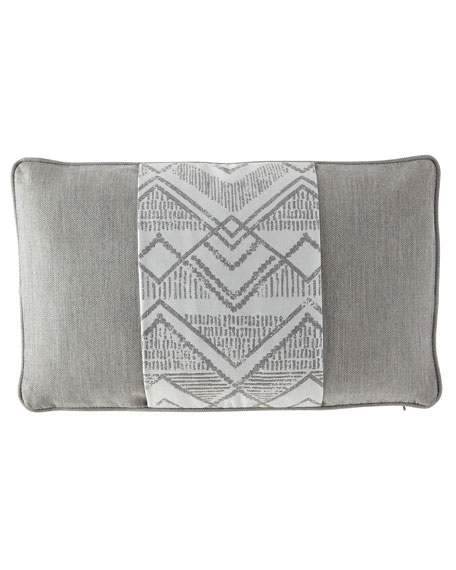 "Charlotte Banded Pillow, 12"" x 20"""