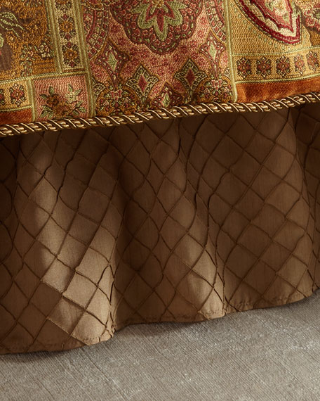 Diamond Stitched Queen Dust Skirt