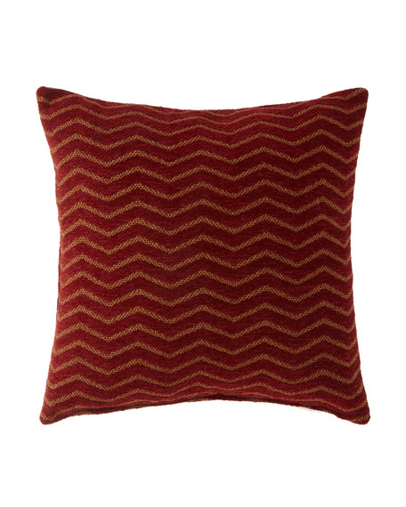 "Panorama Zigzag Pillow, 20""Sq."
