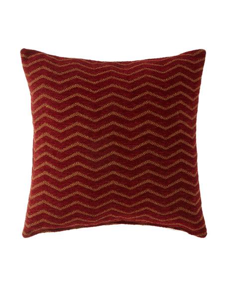 """Panorama Zigzag Pillow, 20""""Sq."""