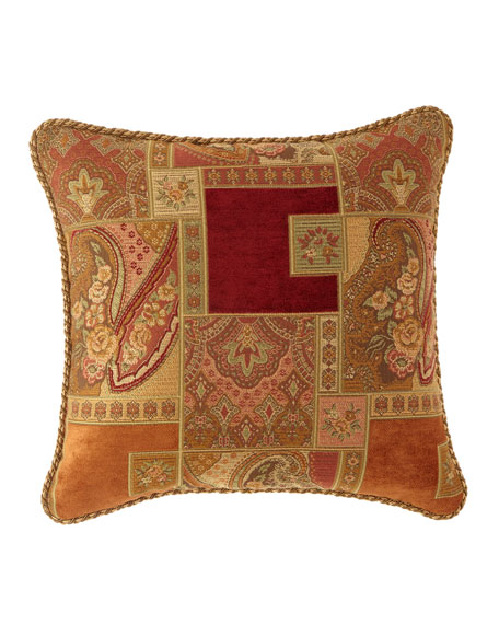 """Panorama Corded Pillow, 18""""Sq."""