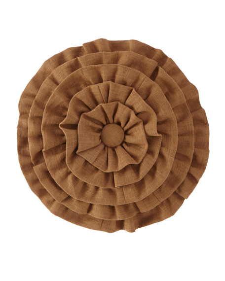 Panorama Ruffled Round Pillow