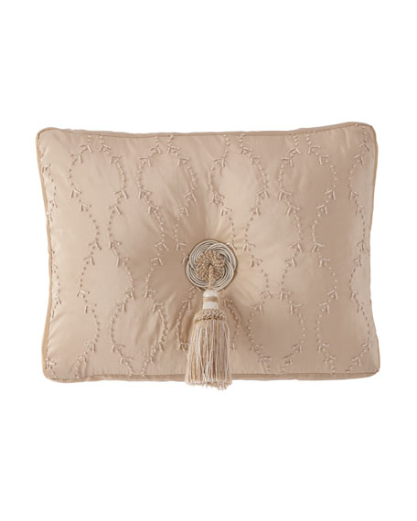 """Knotted Boudoir Pillow, 13"""" x 18"""""""
