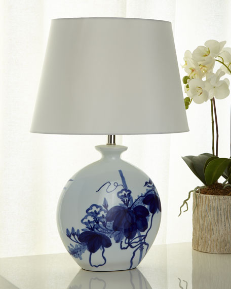 Bird Lamp, Blue/White