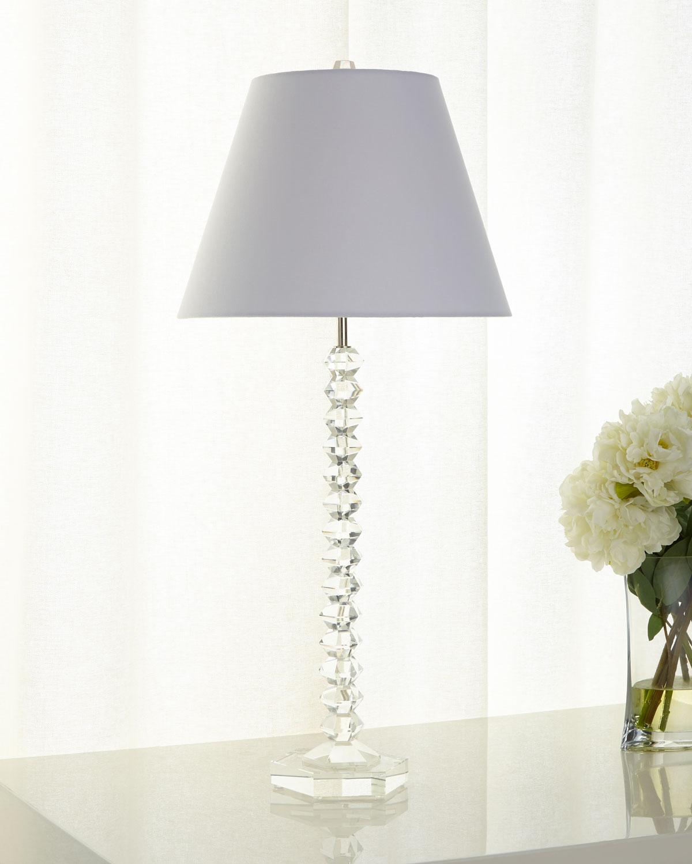 Crystal Candlestick Buffet Lamp Neiman Marcus
