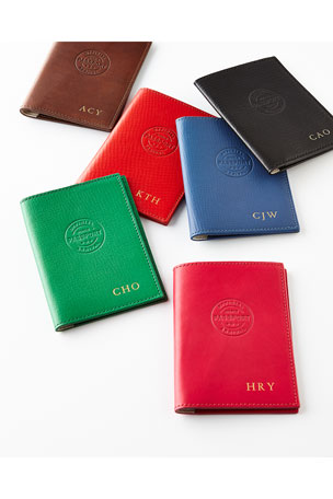 Graphic Image Personalized Leather Passport Cover