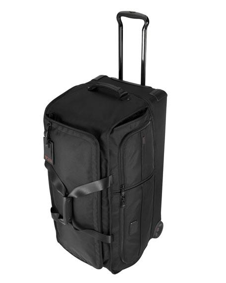 Large Wheeled Split Duffel Bag Luggage, Black