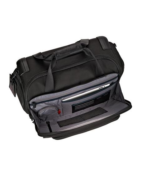 4-Wheeled Compact Duffel Bag Luggage, Black