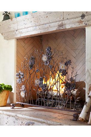 Iron Single-Panel Fireplace Screen