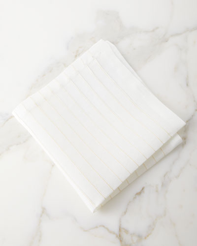 Gold Stitch Pleated Napkin