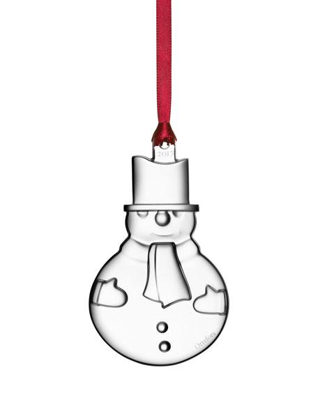 Orrefors 2017 Annual Snowman Ornament