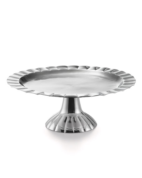 Mary Jurek Silhouette Scalloped Cake Stand