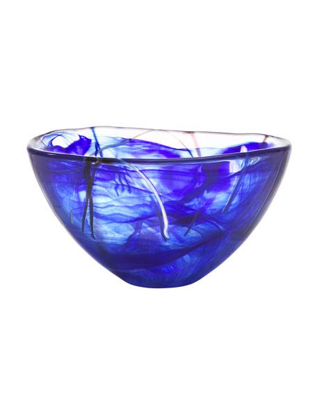 Orrefors Kosta Boda Contrast Small Bowl, Blue