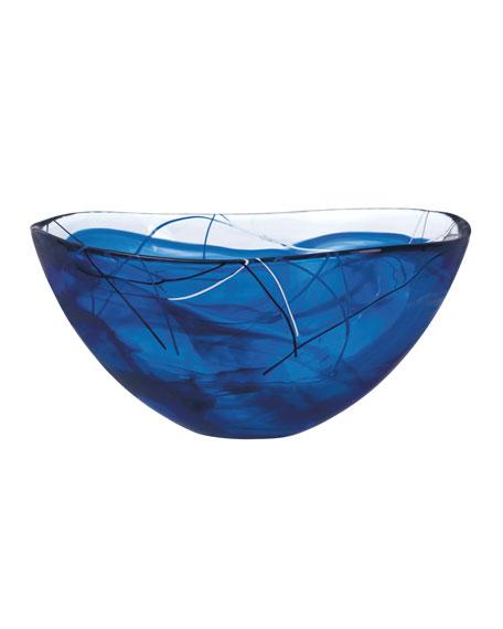 Orrefors Kosta Boda Contrast Large Bowl, Blue