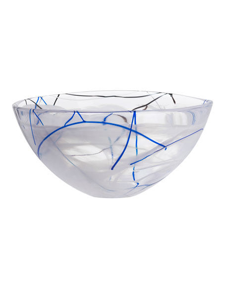 Contrast Large Bowl, White
