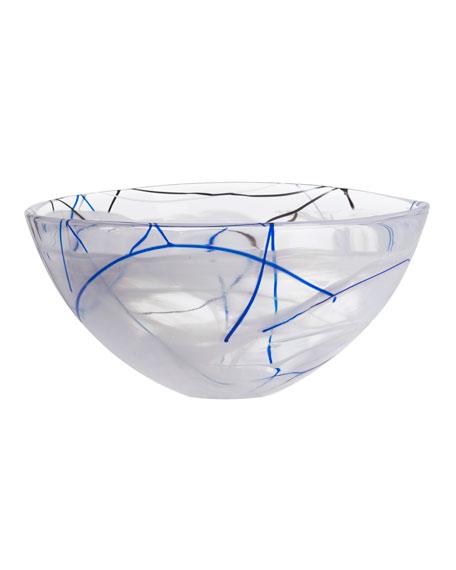 Orrefors Kosta Boda Contrast Large Bowl, White