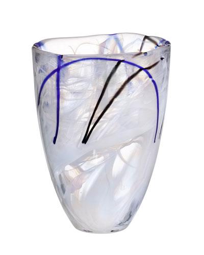 Contrast Large Vase, White