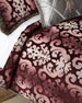 Aubergine Damask King Duvet