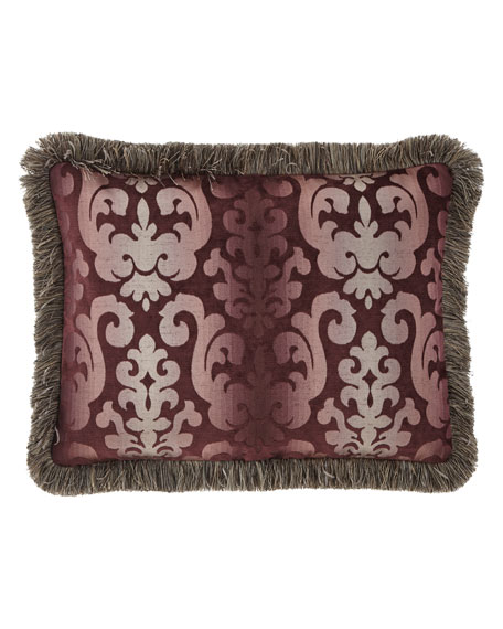 Sweet Dreams Aubergine Standard Sham with Fringe