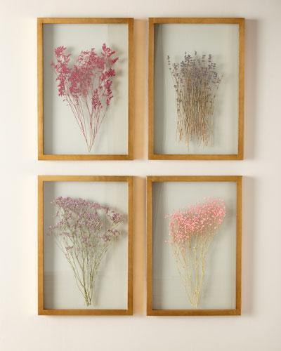 Framed Florals, Set of 4