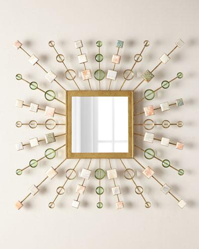 Sunburst Square Mirror
