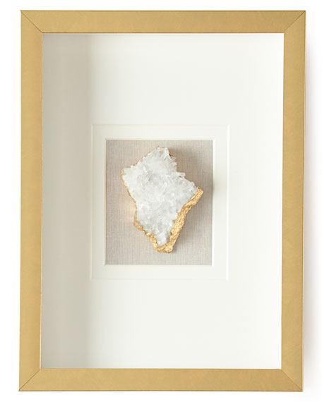 Jamie Young Natural Crystal in Golden Frame, Stormy