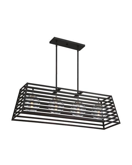 Lakewood 4-Light Indoor/Outdoor Linear Pendant