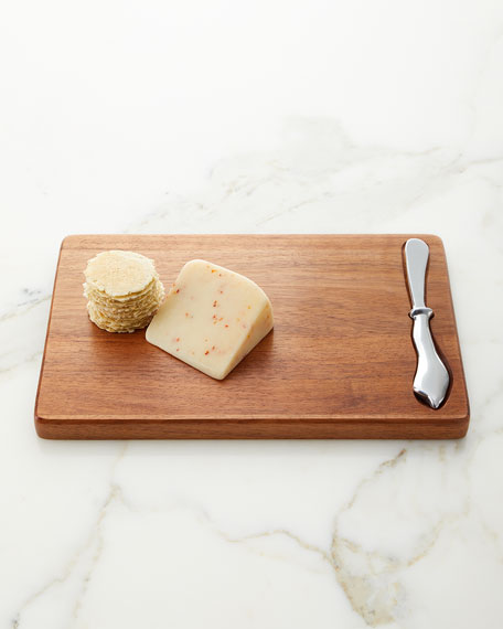 Beatriz Ball Rectangle Cutting Board with Brasilla Spreader