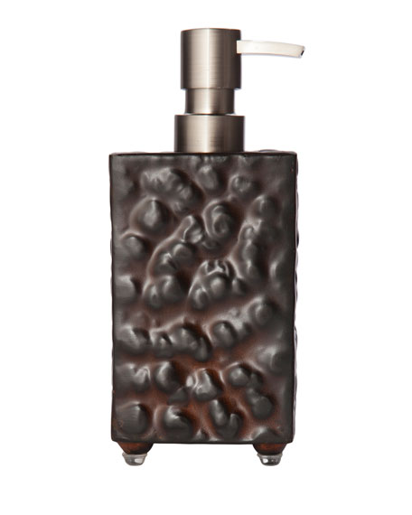 Jan Barboglio Hammered Iron Soap Pump Dispenser