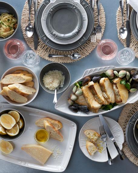 """Berry & Thread Whitewash """"Sea Urchin"""" Dessert/Salad Plate"""