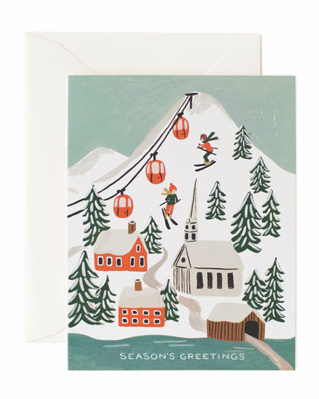 Rifle Paper Co Holiday Snow Boxed Card Set,