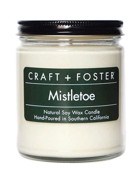 Craft + Foster Limited Edition Mistletoe Candle, 8.0