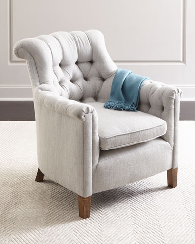 Alfreda Alpaca Tufted Chair