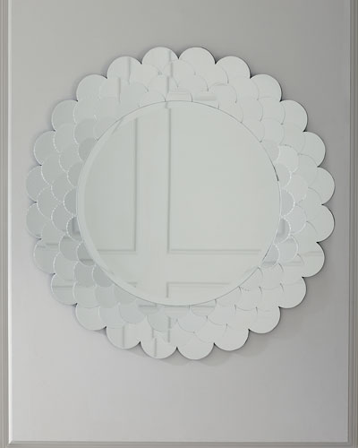 Etched Fish Scale Mirror