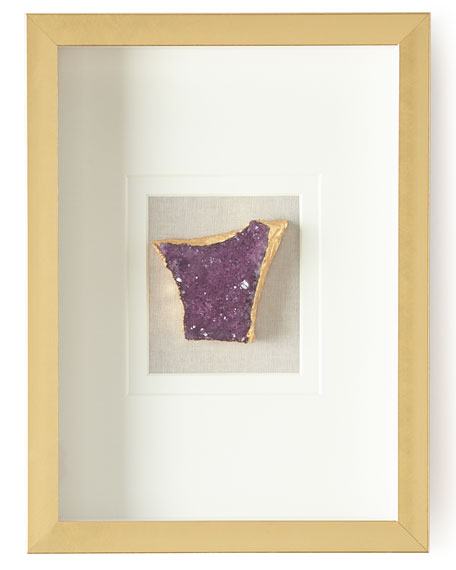 Jamie Young Natural Crystal in Golden Frame, Purple