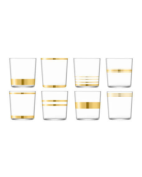 Deco Assorted Tumblers, Set of 8