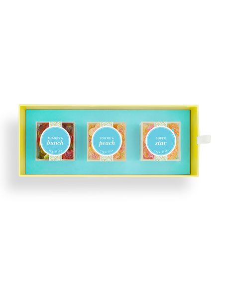 Sugarfina Thank You 3-Piece Candy Bento Box